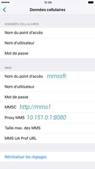 SFR comment configurer le MMS sur Apple Iphone 6